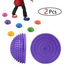 Spiky Йога половина мяча массажные мячи для ног 16 см ПВХ анти