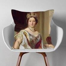 Европейский стиль, портрет королевы художественная подушка крышка комплект из модных женских наволочка 45X45cm Подушка Чехлы диван спальня ук...
