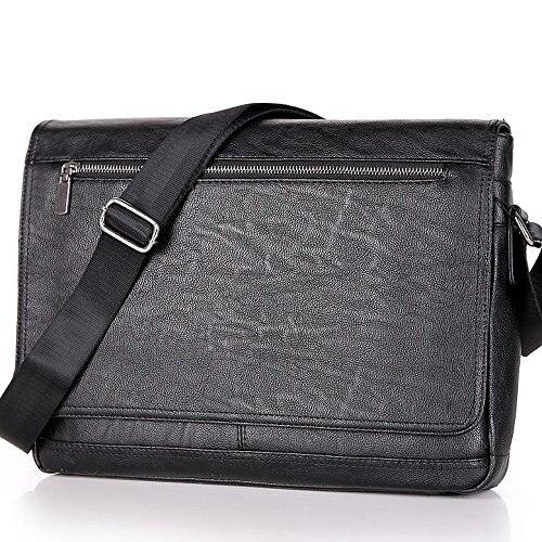 Leather Soft Men Laptop Crossbody Bag Bags Bag 2019 Briefcase Messenger Business Men Computer For Shoulder