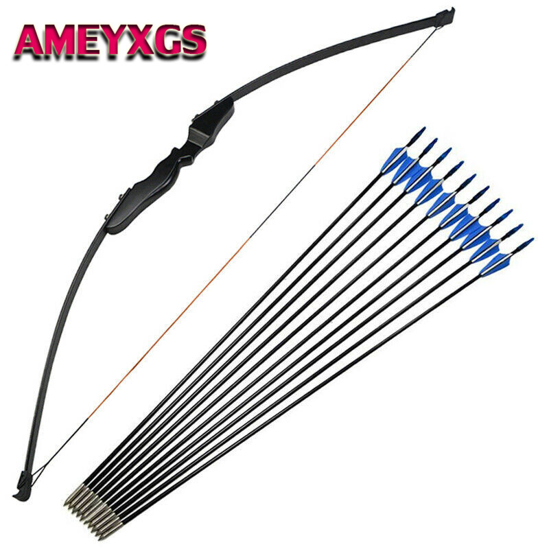 Archery Adult 30//40lbs Takedown Recurve Straight Bow Right Hand Shooting Hunting