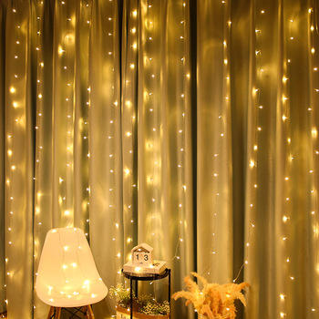 2X2/3X1/3x3/6x3 LED Icicle Fairy String Light Christmas LED Wedding Party Fairy Lights Garland for Home Curtain Window Decor 1