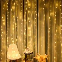 2/3/6M LED מחרוזת נטיף קרח פיית אור חג המולד גרלנד LED מסיבת חתונת אורות מקורה חיצוני בית וילון חלון דקור