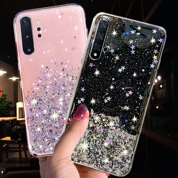 Luxury Star Glitter Crystal Case For Samsung Galaxy S20 S10 S10E S9 S8 Note10 Plus A90 A70 A50 A30 A20 A10 A10S A20S A30S Cover image