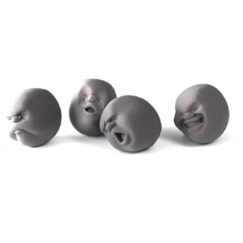 1pc Novelty Caomaru Human Face Antistress Ball Toy Emotion Vent Ball Silicone Relax Doll Adult Stress Relieve Novelty Toys Gift