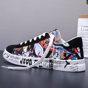 Shoes Sneakers Vulcanized-Shoes Graffiti-Board Canvas Colorful Sport Men's Casual Fashion