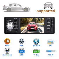1Din Video Player Support Rear View FM Radio Multimedia Player Premium Automobile Bluetooth Car Kit
