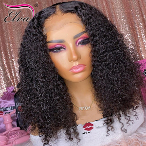 Image 4 - Pre Plucked Lace Front Human Hair Wigs Baby Hair Curly Brazilian Lace Front Wig Bleached Knots 360 Lace Frontal Human Hair Wigs
