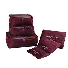 Новая дорожная сумка из ткани Оксфорд высокого качества, 6 шт./компл., органайзер для багажа, упаковка для одежды, объемный Органайзер XYLOBHDG