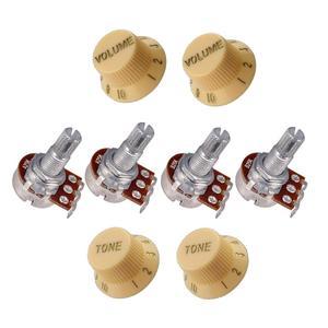 Gitarre Potentiometer Volume Tone Control Knob 18mm Welle Gitarre Volume Tone Potentiometer Töpfe 25K 250K 500K gitarre Zubehör