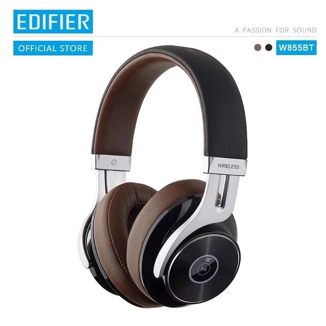 EDIFIER auriculares inalámbricos W855BT con Bluetooth, NFC, emparejamiento y aptX, compatibles con controles intrauditivos y llamadas