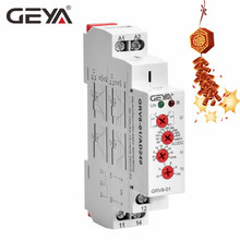 GEYA DC12V Voltage Relay Over-voltage or Undervoltage Protection Relay 220V 10A Electrical Voltage Monitoring Relay GRV8-01 free shipping geya grv8 01 adjustable over voltage or under voltage relay 12v 48v 110v 220v 240v voltage control relay