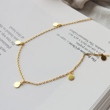 925 Sterling Zilveren Ketting Vrouwelijke Persoonlijkheid Gouden Hanger Korte Sleutelbeen Keten Ketting Europese Stijl Licht Luxe Disc