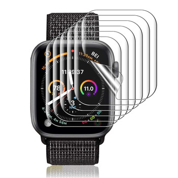Film For Apple Watch 6 SE iWatch 40mm 44mm Screen Protector Series 5 4 TPU Clear Film Coverage Bubble-Free Anti-Scratch case 1