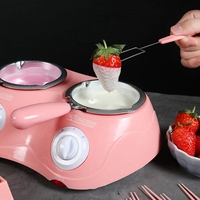 Chocolate Candy Melting Pot Electric Chocolate Fountain Fondue Chocolate Melt Double Pot Melter Machine Diy Kitchen Tool Gift Ha w Garnki do fondue od Dom i ogród na