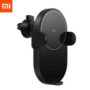 Беспроводное Автомобильное зарядное устройство Xiaomi Mi 20 Вт/10 Вт Max Qi с интеллектуальным инфракрасным датчиком, быстрая зарядка, автомобильны...