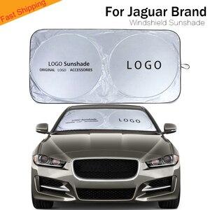 Parasol de coche para jaguar, cubierta de ventana frontal, protector de sol, visor, bloque de parabrisas, parasol de logotipo de coche para Jaguar XE XF series