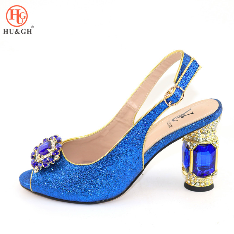 Royal Blue African Women Shoes Sexy