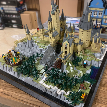 MOC 6862PCS+ 22004 Movie streetview sets School Castle model sets Building Model Blocks Kids Educational Toys Christmas Gifts image