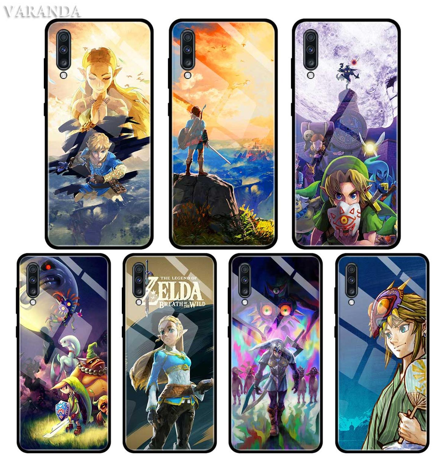 Legend of Zelda <font><b>Case</b></font> For <font><b>Samsung</b></font> A50 A40 <font><b>A70</b></font> A71 A51 A30 A10 A10S A20S M30S J4 J6 Plus <font><b>Tempered</b></font> <font><b>Glass</b></font> Phone Cover image