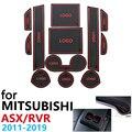 Противоскользящая резиновая подушка для чашки  дверной паз  коврик для Mitsubishi ASX RVR Outlander Sport 2011 ~ 2019 2015  аксессуары  коврик для телефона