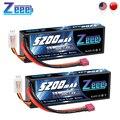 2 шт.  Lipo батареи Zeee 5200 мАч 7 4 В 50C для радиоуправляемого автомобиля  2S  Lipo батарея с разъемом Deans для радиоуправляемого автомобиля  грузовика  в...