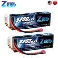 2 Unità di Zeee 5200 Mah 7.4V 50C Batterie Lipo per Rc Auto 2S Rc Lipo Batteria con Deans spina per Rc Auto Camion Elicottero Barche