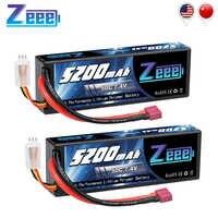 2 unités Zeee 5200mAh 7.4V 50C Lipo Batteries pour voiture RC 2S RC Lipo batterie avec Deans prise pour voiture RC camion hélicoptère bateaux