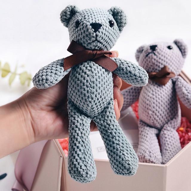 Peluche ours en peluche 18-20CM, mignon lapin robe pendentif poupées cadeaux anniversaire mariage décor de fête 1