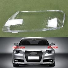 Cubierta de plástico para faros delanteros de coche, cubierta de cristal para 2004, 2005, 2006, 2007, 2008, 2009, 2010, 2011, Audi A6 C6