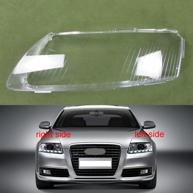 Projecteurs Couvercle En Plastique Abat Jour Phares Couverture Verre Projecteur Coque Pour 2004 2005 2006 2007 2008 2009 2010 2011 Audi A6 C6