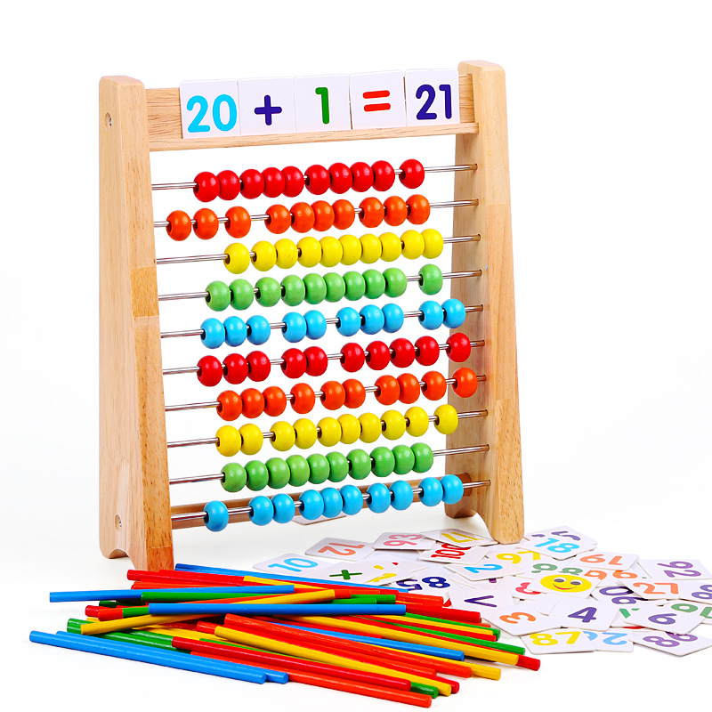 Factory Sales Calculation Frame Young STUDENT'S Counter Mathematics Arithmetic Rods Children Abacus Arithmetic Teaching Aids Ear
