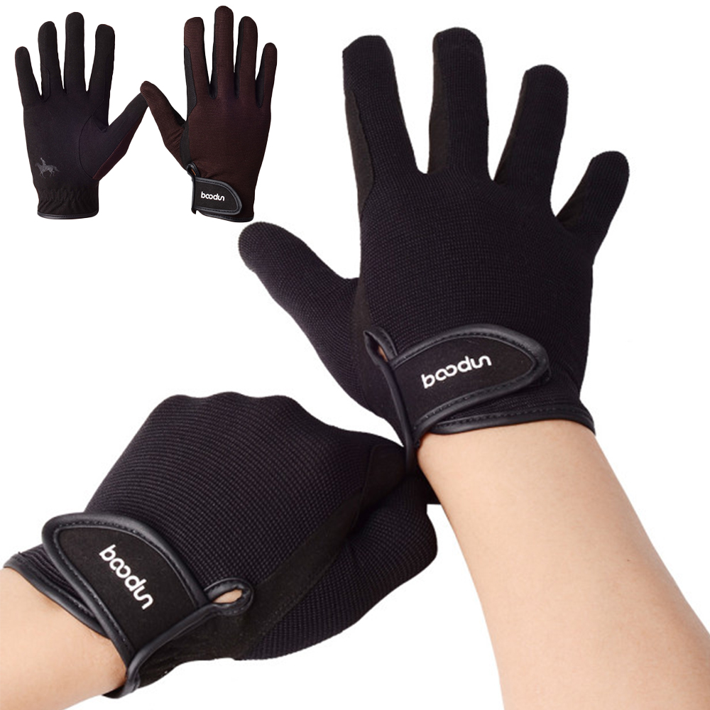 Horse Riding Gloves For Men Women Unisex Bike Cycling Gloves Full Finger Windproof Warm Anti-slip Gloves Riding Equipment Horses
