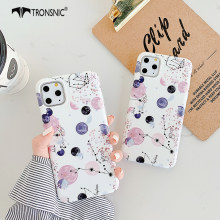 Texture Planet Phone Case for iPhone 11 Pro Max XR XS MAX Soft White Matte Universe Luxury Case for iPhone 6s 7 8 Plus Cover Hot(China)
