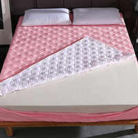 Neue Sechs Seiten Alle Inclusive Stepp Matratze Abdeckung Weiche Faser Topper Pad Plain Einfarbig Bett Matratze Protector Anti Staub milbe