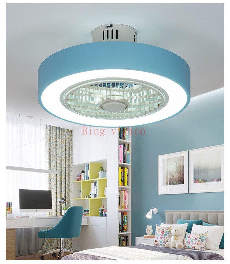 Fashion Style Modern Ceiling Fan Lights Dining Room Bedroom Living Remote Control Fan Lamps Invisible Ceiling Lights Fan Lighting Small Office