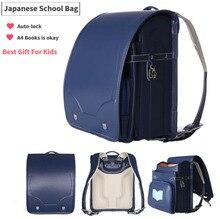 Geniune Japanese New Style Children School Bags For Girls Boys Kids Bookbags Randoseru Sac A Dos Enfant Mochilas Mujer 2017