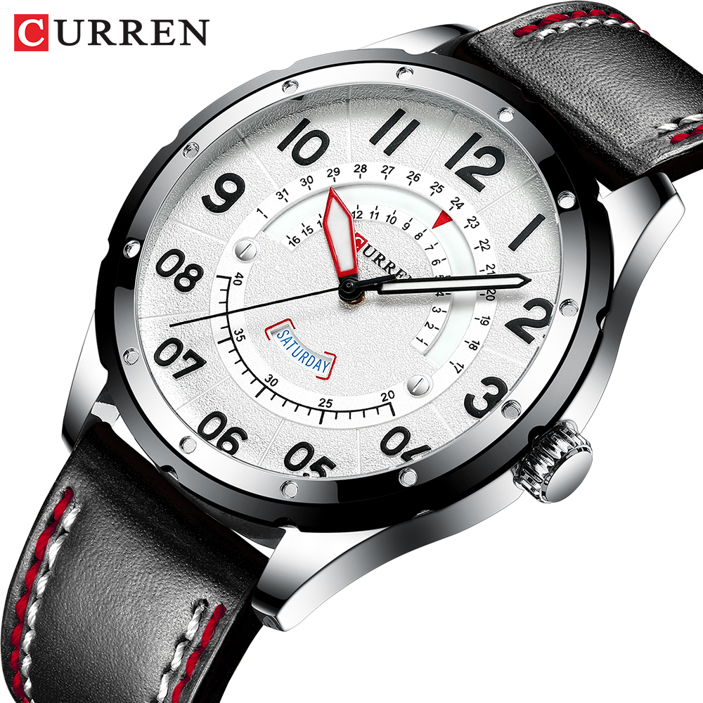 CURREN Mens Watches Top Luxury Brand Men Leather Watches Casual Quartz Wristwatch for Men Relogio Masculino Clock Male Business