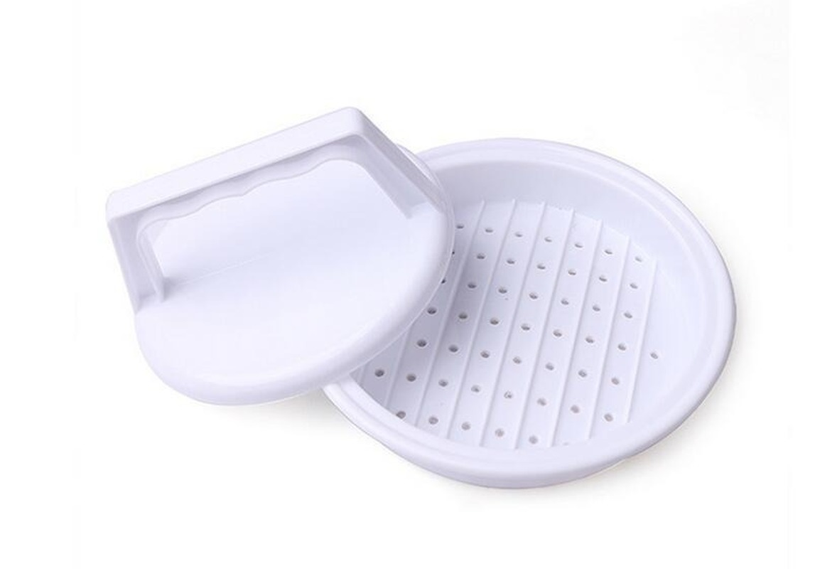 Multifunctional round burger meat pie molder food grade plastic non-stick beef barbecue meat press kitchen tool image