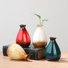 Миниатюрная Керамическая Настольная ваза для цветов бутылка