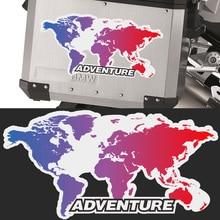 цена на Motorcycle Top Side Box cases panniers Luggage Aluminium Stickers Decal ADV GS Adventure For BMW KTM BENELLI SUZUKI YAMAHA HONDA