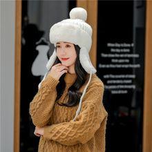 Женские шапки бомберы зимние для женщин шерстяные плотные бархатные