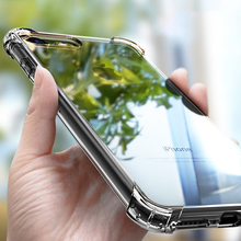 Transparent Shockproof Soft Silicone Case for iPhone 12 11 Pro Max X XR XS 8 7 6 6S Plus SE 2020 Case 360 Silicone Protect Cover