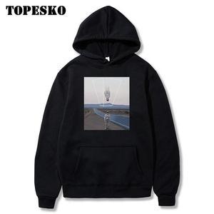 Image 1 - TOPESKOตลกUpside Downนักบินอวกาศพิมพ์Hoodiesเสื้อSpaceman Harajuku Hip Hop Casual Pullover Hooded Streetwear
