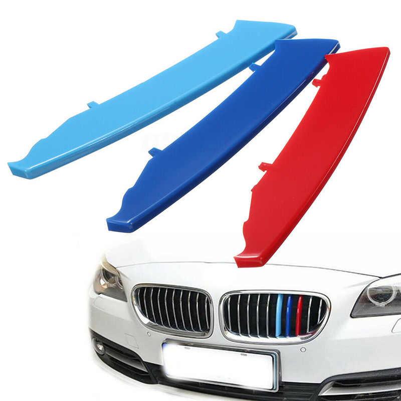 3pcs Auto Griglia di copertura Bar Della Decorazione Della Banda Della Decalcomania Per BMW 3 Serie E90 E91 04-08 Utile