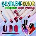 Быстросохнущий лак для ногтей, меняющий цвет под воздействием температуры, блестящий эффект, градиентный лак для ногтей, маникюр # C