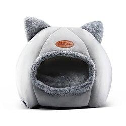 Nieuwe Diepe Slaap Comfort In Winter Kat Bed Little Mat Mand Voor Kat Huis Producten Huisdieren Tent Cozy Cave bedden Indoor