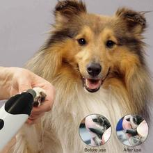 Rechargeable Nails Cat Dog Grooming USB Electric Dog Pet Nail Grinder Trimmer Clipper Paws Pets Nail Clipper стоимость