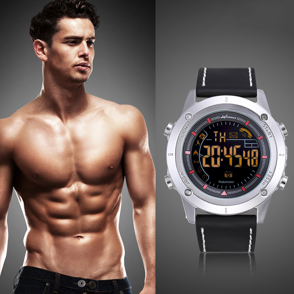 Digital Sport Watch (Bluetooth Android/IOS Phones, Waterproof, GPS. Touch Screen, Sports, Fitness)
