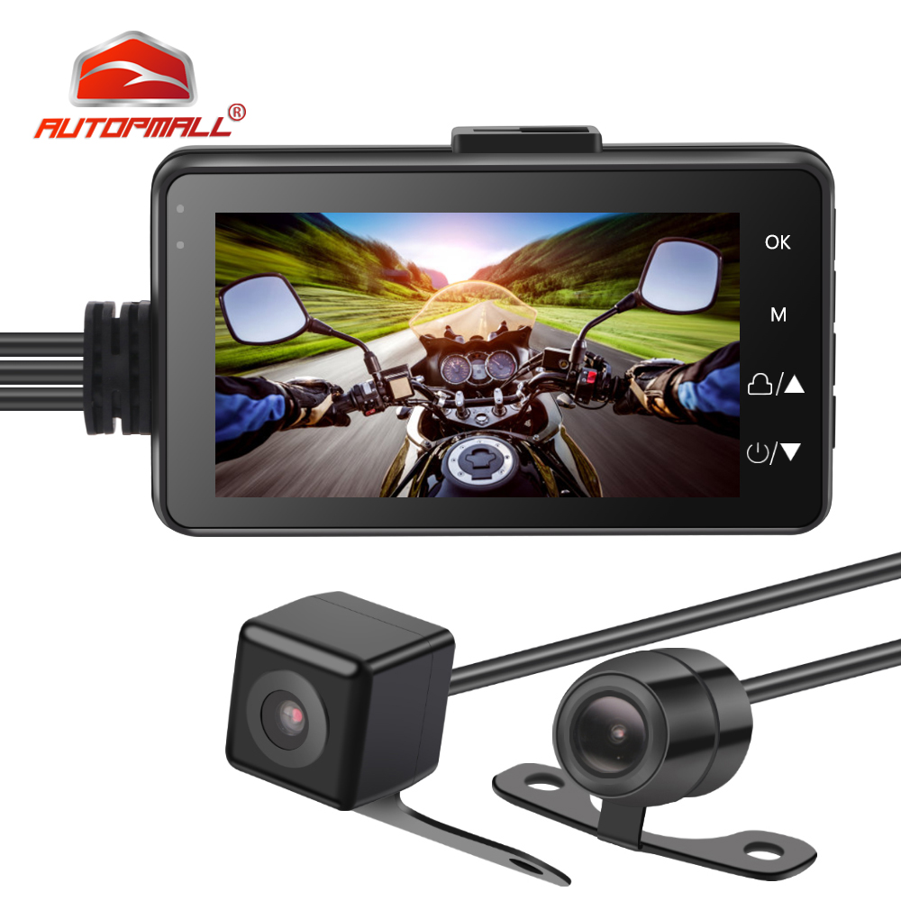 Night Vision Motorcycle Camera Touch Screen HD Realtime Surveillance Fotografica Moto MT18 Dashcam Wide Angle Camera Waterproof
