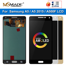 SUPER AMOLED For SAMSUNG Galaxy A5 2015 A500 A500F A500M SM-A500F LCD Touch Screen Digitizer Display Replacement For A500 LCD